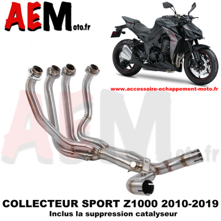Collecteur sport KAWASAKI Z1000 2010 - 2019