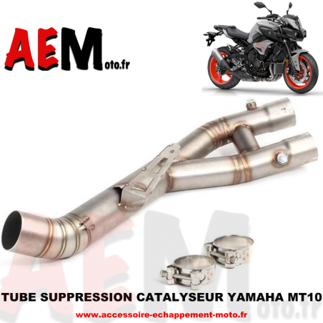 Tube suppression catalyseur Yamaha MT-10 2016 - 2019