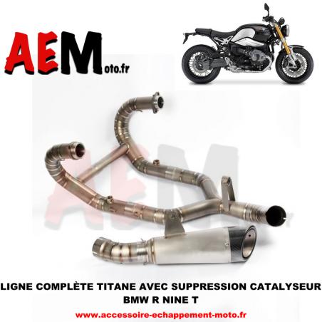 Ligne complète + suppression catalyseur TITANE BMW R nine T