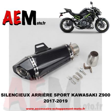 Silencieux arrière sport en inox Kawasaki Z900 2017-2019