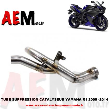 Tube suppression catalyseur YAMAHA R1 2009 - 2014