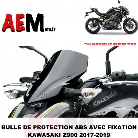 Saute vent en ABS noir Kawasaki Z900 2017-2019