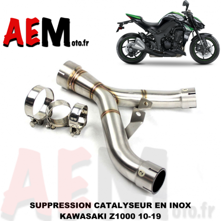 Tube suppression catalyseur Kawasaki Z1000 2010-2019