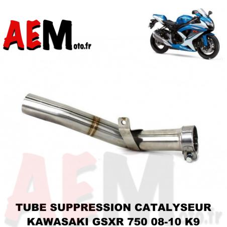 Tube suppression catalyseur Suzuki GSXR 750 2008-2010