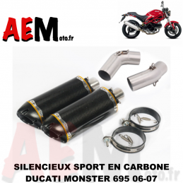 Silencieux sport en carbone...