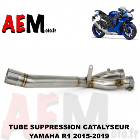 Tube suppression catalyseur YAMAHA R1 2015 - 2019