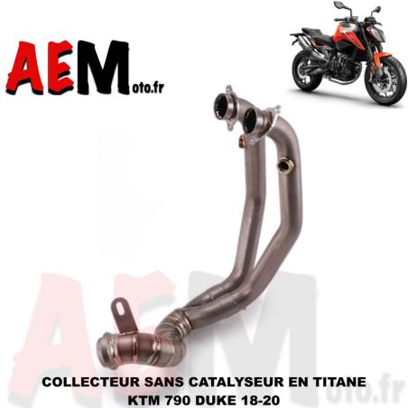 Collecteur sport Titane sans catalyseur KTM DUKE 790 18-20