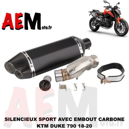 Silencieux sport avec embout carbone KTM DUKE 790 18-20