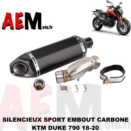 Echappement sport avec embout carbone KTM DUKE 790 18-20