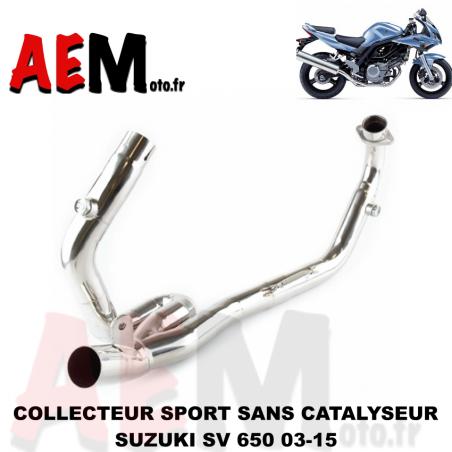 Collecteur sport sans catalyseur Suzuki SV 650 03-15