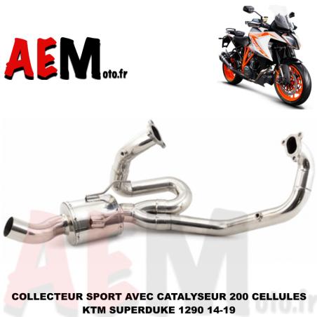 Collecteur avec catalyseur sport KTM Superduke 1290 2014-2019