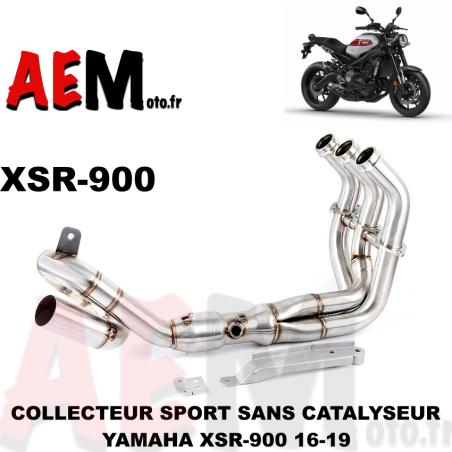 Collecteur sport inox Yamaha XSR 900 16-19