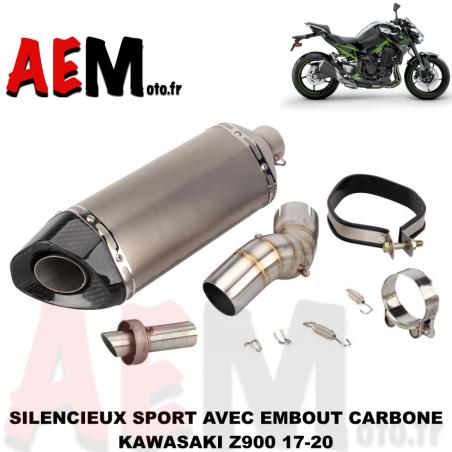 Silencieux avec embout carbone Kawasaki Z900 17-20