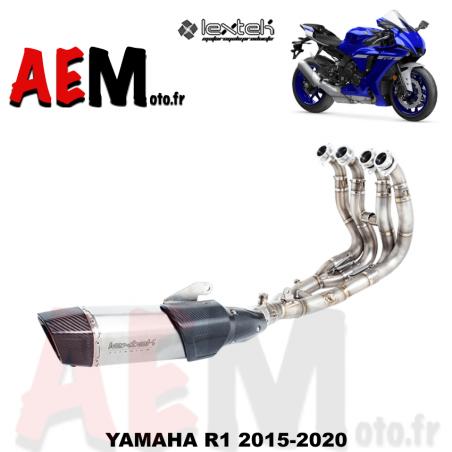 Ligne complète titane/carbone Yamaha YZF-R1 2015-2020