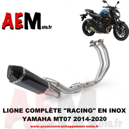 Ligne complète RACING avec suppression catalyseur Yamaha MT07 2014-2020