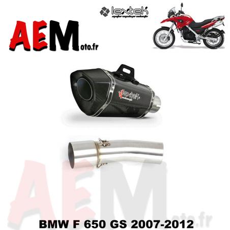 Silencieux sport carbone LEXTEK BMW F 650 GS 2007-2012