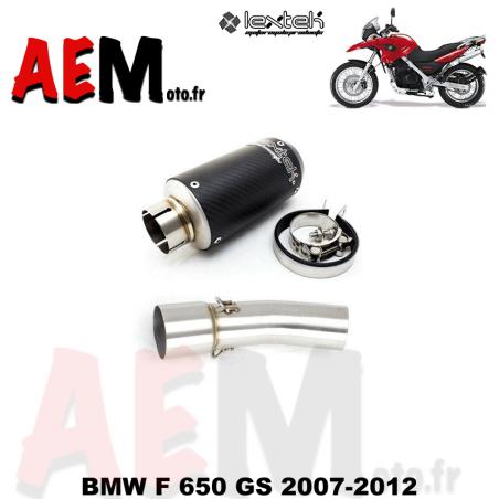 Silencieux sport full carbone LEXTEK BMW F 650 GS 2007-2012