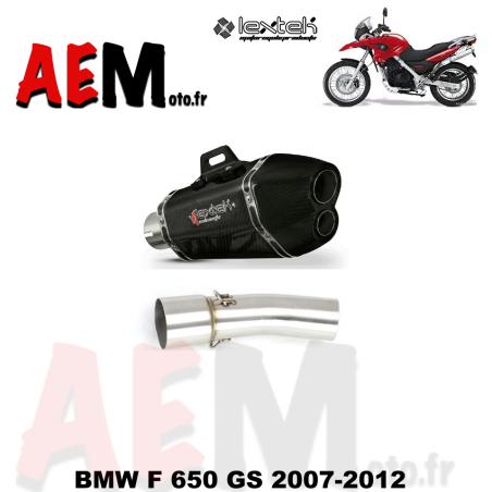 Echappement sport carbone LEXTEK BMW F 650 GS 2007-2012