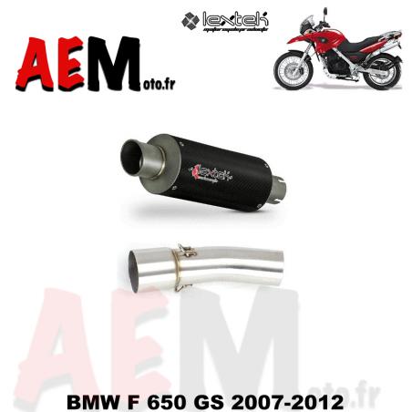 Silencieux LEXTEK sport carbone BMW F 650 GS 2007-2012