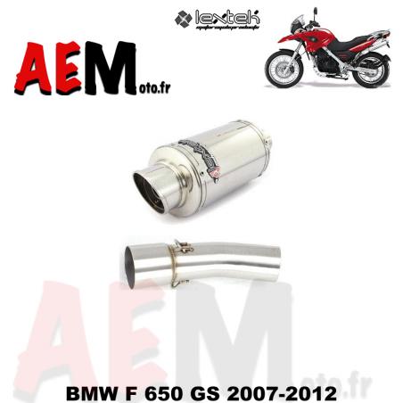 Echappement sport LEXTEK BMW F 650 GS 2007-2012