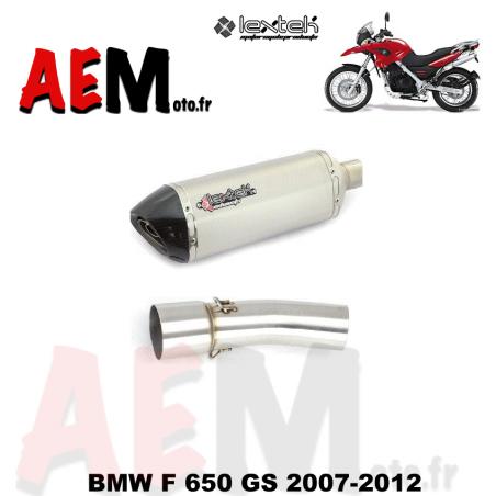 Silencieux sport LEXTEK BMW F 650 GS 2007-2012