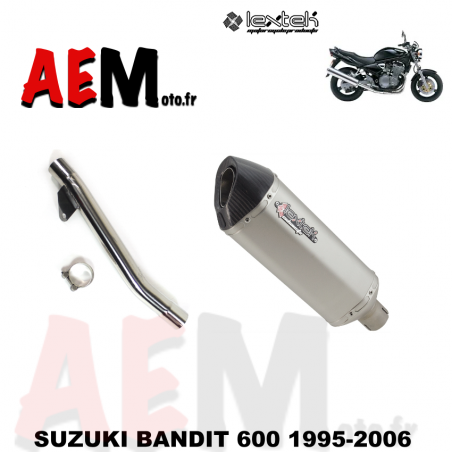 Silencieux sport LEXTEK SUZUKI BANDIT 600 1995-2006