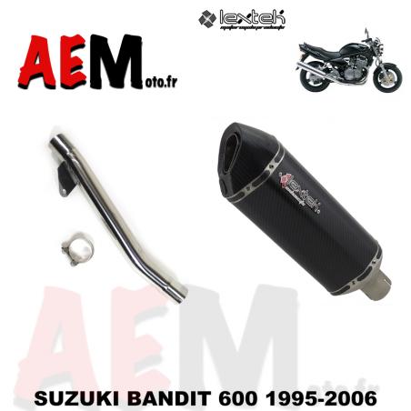 Silencieux sport carbone LEXTEK SUZUKI BANDIT 600 1995-2006