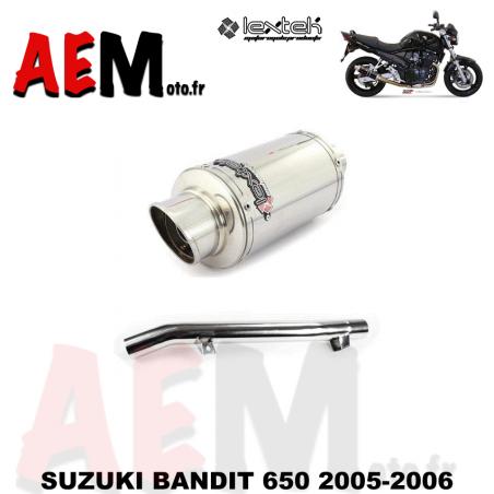 Echappement sport LEXTEK SUZUKI BANDIT 650 2005-2006