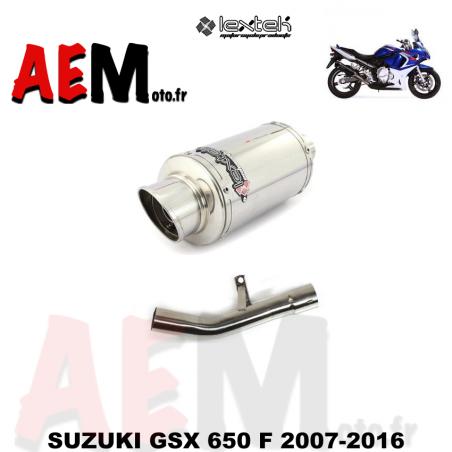 Silencieux sport LEXTEK SUZUKI GSX 650 F 2007-2016