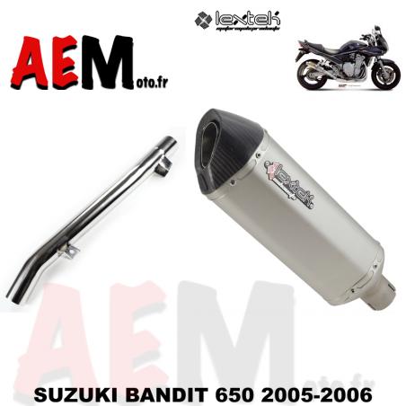Silencieux sport LEXTEK SUZUKI BANDIT 650 2005-2006