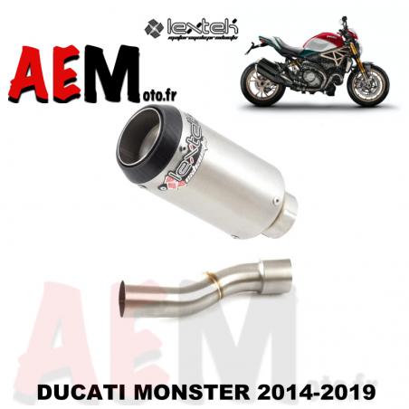 Echappement sport LEXTEK DUCATI MONSTER 1200 2014-2019
